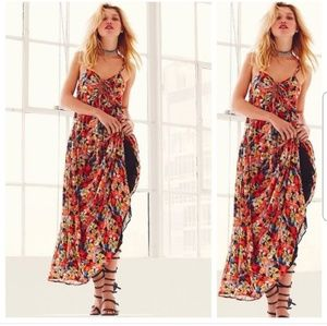 Free People Mulberry Keyhole Maxi Dress